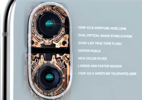 Iphone X diseño cámaras traseras