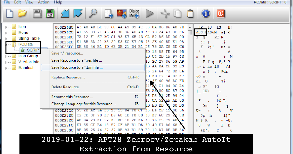 Let's Learn: Progression of APT28 AutoIt Zebrocy Downloaders: Source