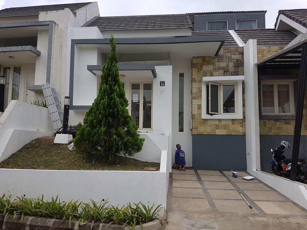Lokasi proyek renovasi Ringan rumah 1 Lantai milik Bpk Dody Muchammad Yusuf di jalan Waterview I Cluster Summit Perumahan Rancamaya, Bogor, Tahun 2020