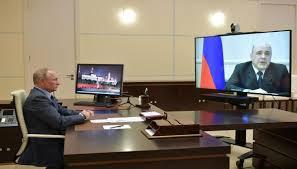 بوتين-يتحدث-عن-حالة-رئيس-الوزراء-الروسي-المصاب-بفيروس-كورونا
