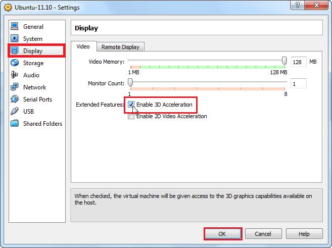 How To Enable Unity 3D For Ubuntu 11 10 On VirtualBox