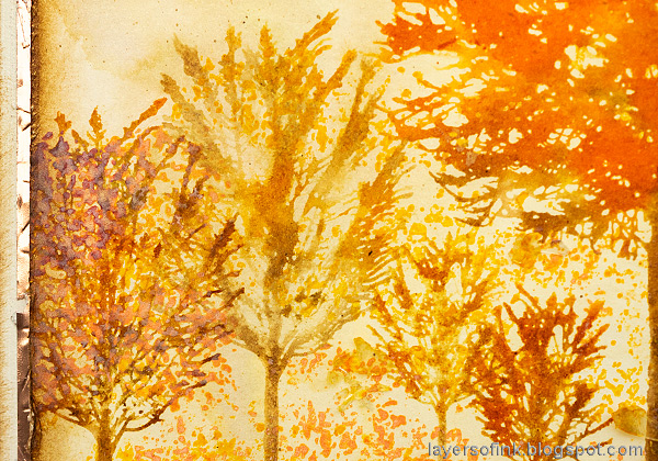Layers of ink - Autumn Trees Card by Anna-Karin Evaldsson. With Simon Says Stamp All Seasons Tree stamp set.