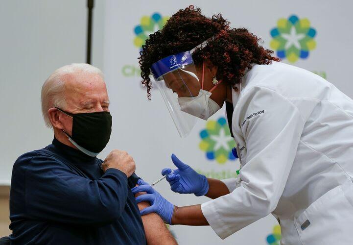 President-elect Joe Biden gets first dose of Covid-19 vaccine