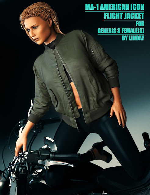 MA-1 Flight Jacket for Genesis 3 Female