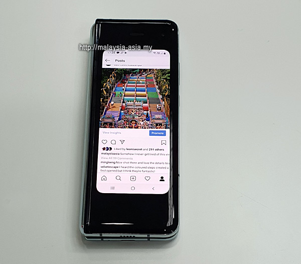 Galaxy Fold Phone Folded