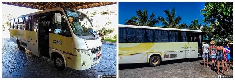 Serviço de transporte gratuito no complexo Costa do Sauípe - Resort all inclusive na Bahia