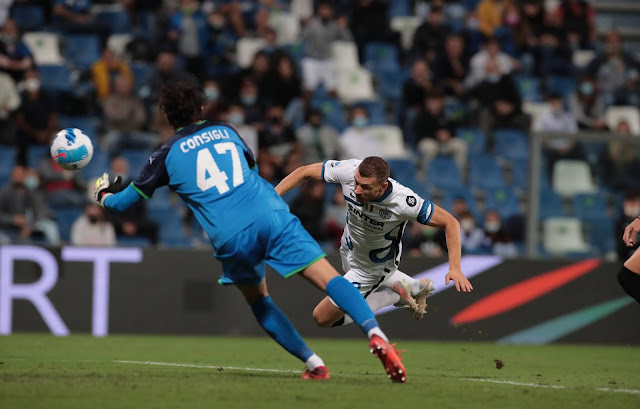 ملخص اهداف مباراة انتر ميلان وساسولو (2-1) الدوري الايطالي