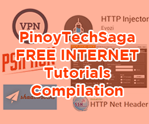 Compilation of free internet tutorials for Globe, TM, Smart, TNT, Sun include VPN, HTTP Injector, HTTP Proxy Injector, Psiphon, Shadowsocks and HTTP Net Header.