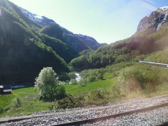 Paisajes en el recorrido en tren de Flam (@mibaulviajero)