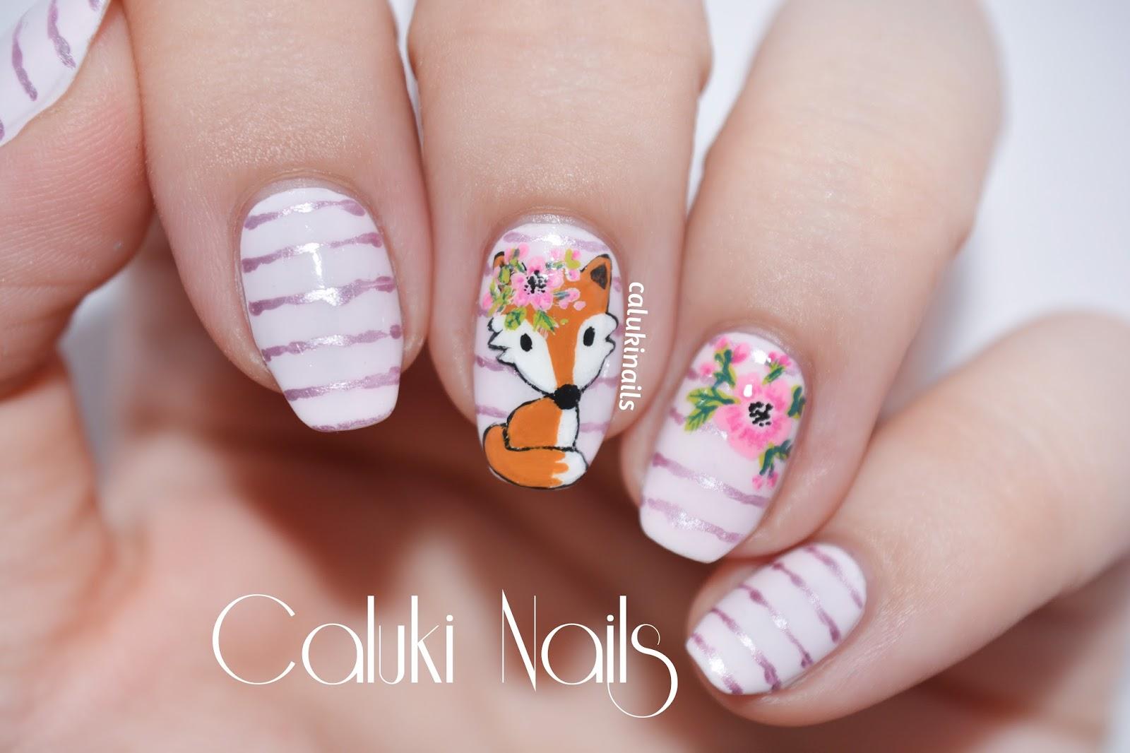 Caluki Nails Nail Art Zorrito Bienvenida Primavera Pastel City