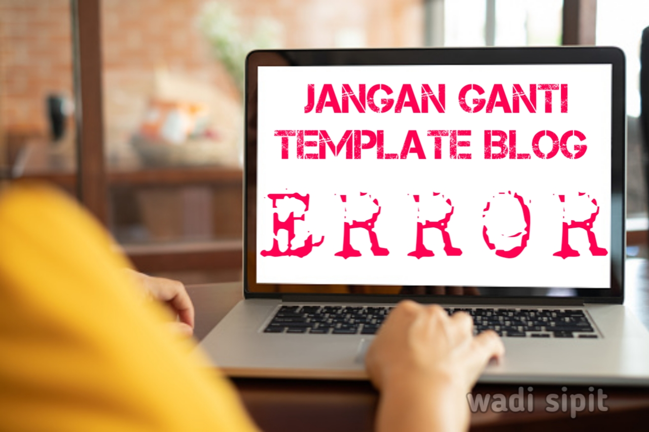 alasan tidak ganti template blog