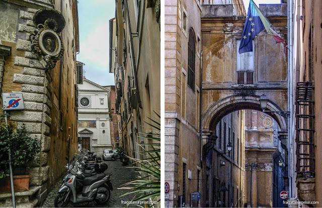 Arquitetura renascentista na Via Giulia, Roma