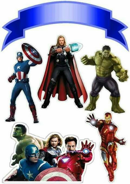 Avengers Party: Free Printable Cake Toppers. - Oh My ...