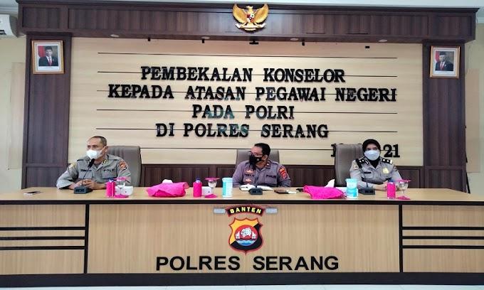 Perbaiki Kinerja Polri, Biro SDM Polda Banten Beri Pembekalan Konselor di Polres Serang