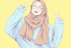 21 Gambar Kartun Muslimah Cantik Lucu Gambar Kartun Ku