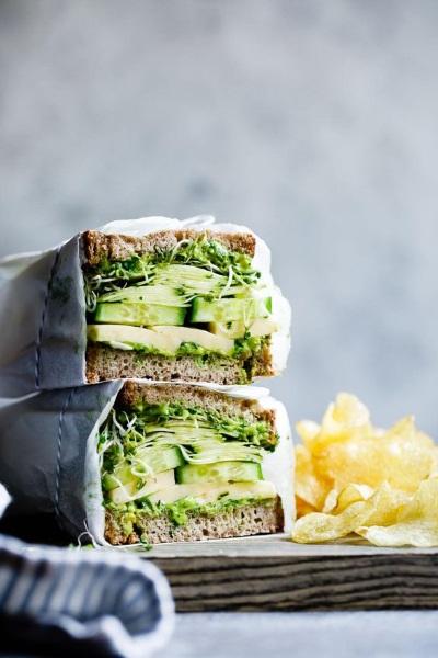 Green sandwich veggie