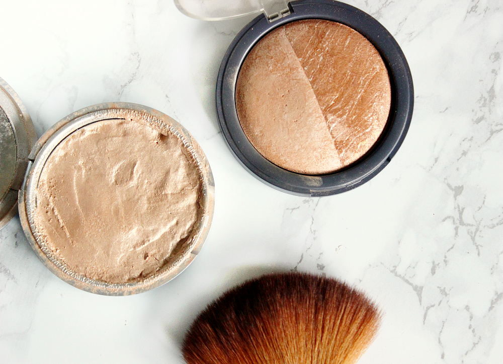 how to strobe the balms mary lou manizer, accessorize baked duo bronzer bondi