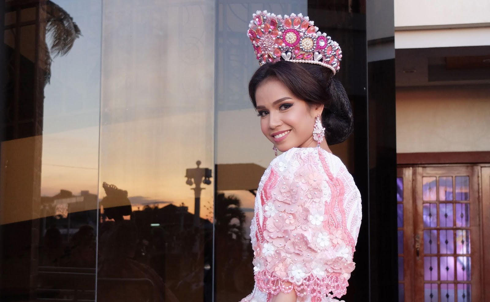 Camille Quijano in a Pinky Josh gown inspired by Pamulinawen Festival of Laoag City Ilocos Norte Festival de las Bellas y Flores Gown Competition National Costume