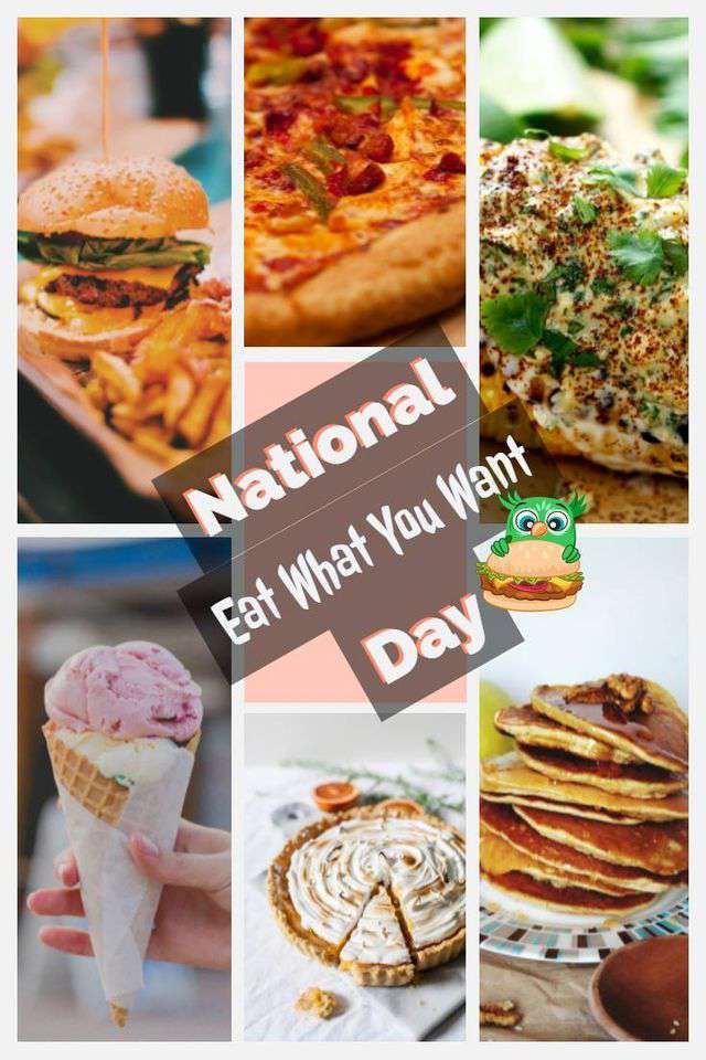 National Eat What You Want Day Wishes for Whatsapp