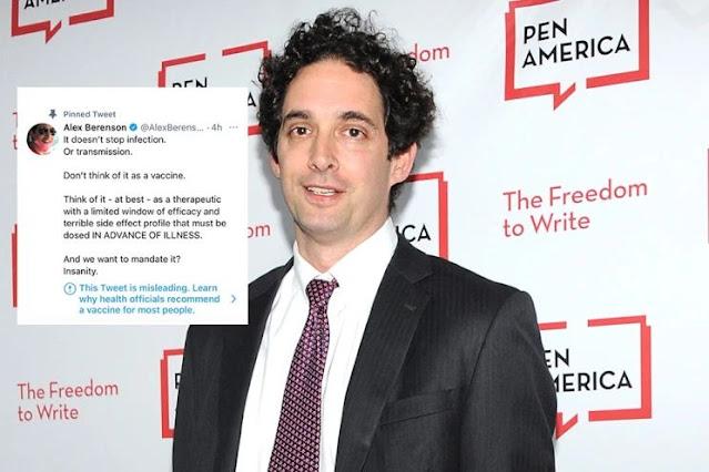 Alex Berenson il giornalista censurato e bannato da twitter