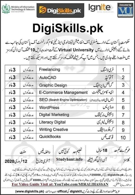 DigiSkillls Earn Money Online Govt Starting 3 Month Course for Online Earning for male and Female from Whole Pakistan