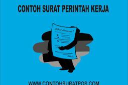 Contoh Surat Perintah Kerja (SPK) Yang Baik dan Benar