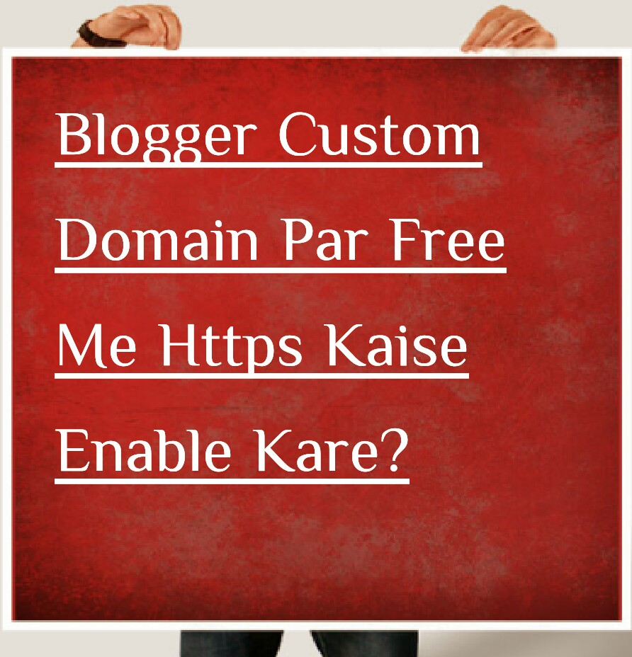 https blogger custom domain par kaise enable kare