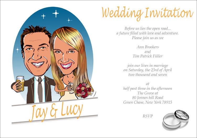 Funny Cartoon Wedding Invitations