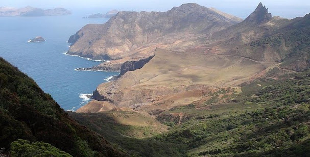 View from Alexander Selkirk's lookout in Robinson Crusoe Island