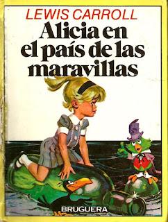 Cubierta de Alicia en el país de las maravillas Ediciones Bruguera