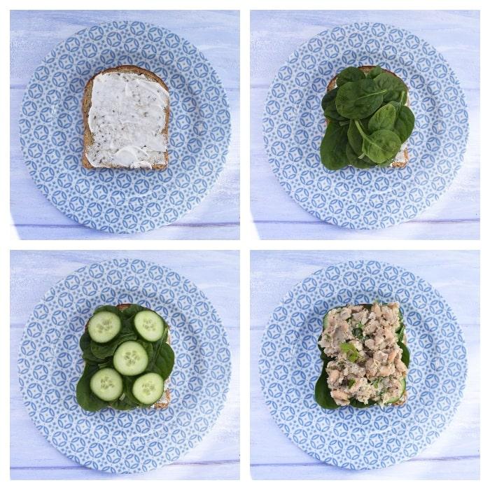 Vegan Italian White Bean & Tomato Sandwich - Step 2 - pulling together the sandwich