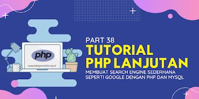 Membuat Search Engine Sederhana Seperti Google Dengan PHP Dan MYSQL