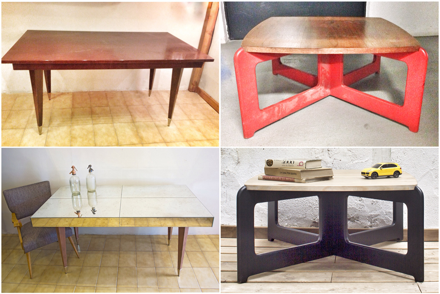 Antes y después - mesas - Studio Alis