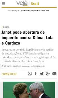 Pedido de abertura de inquérito contra a Presidente Dilma Rousseff