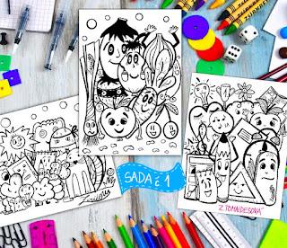 Omalovánky doodle pro děti