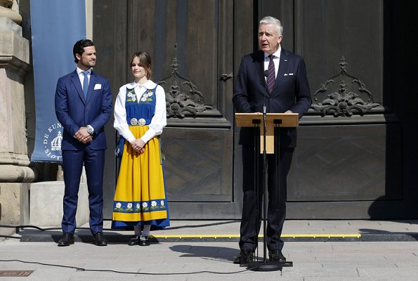 Crown Princess Victoria wore Rodebjer irmaline top and skirt. Prince Carl Phillip and Princess Sofia. Princess Madeleine