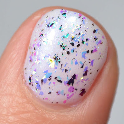 color shifting flakie nail polish topper swatch
