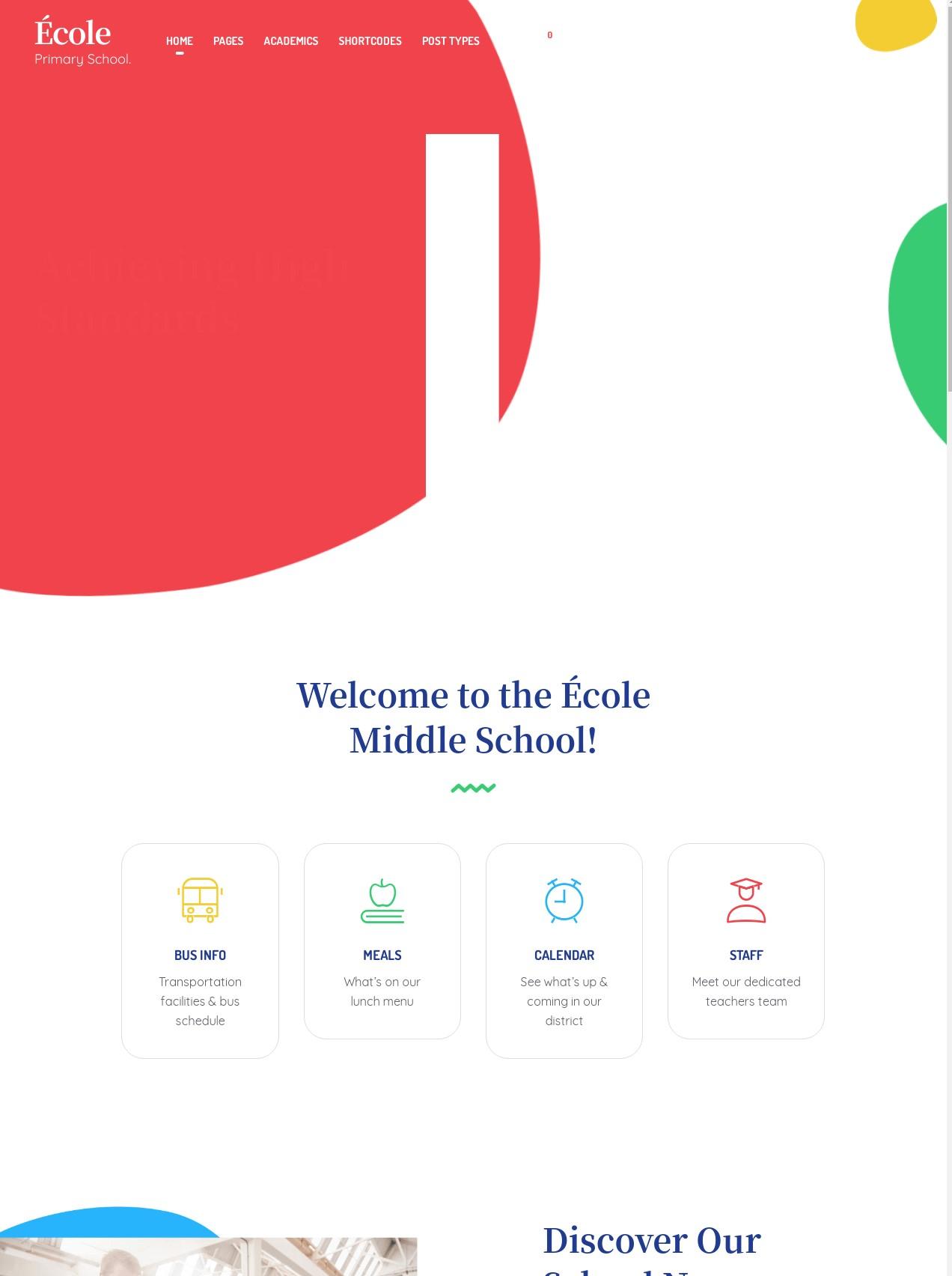 Ecole  Education And School WordPress Theme