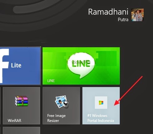 Cara Pin Halaman Website Di Starscreen Windows 8