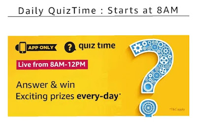 Amazon quiz today answer, today's amazon quiz answer