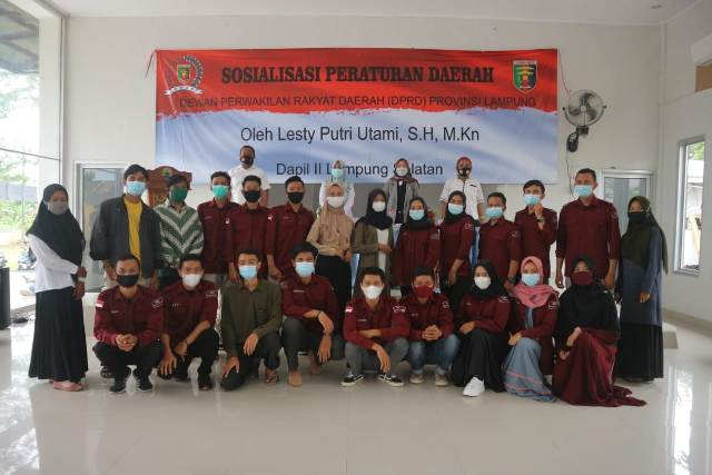 Lesty Anggota DPRD Lampung Sosialisasi Perda Pencegahan Covid-19 di Kecamatan Palas