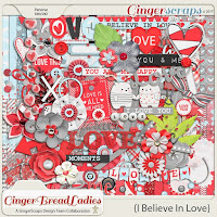 Kit : I Believe In Love by GingerScraps designers