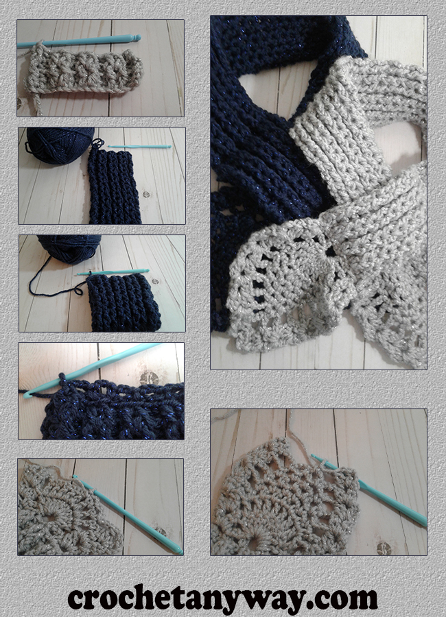 steps for crocheting a pineapple scarf