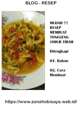 MUDAH !!! Resep Cara Bikin Tongseng Jamur Tiram