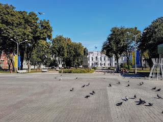 Суми. Вул. Соборна. Сквер ім. Шевченка і пам'ятник Кобзарю