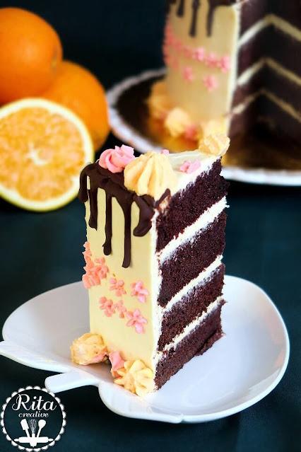 tort z orange curd