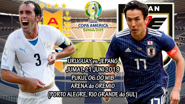 Prediksi Copa America Uruguay vs Jepang (21 Juni 2019)