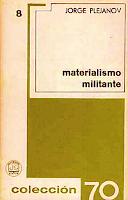 Libro N° 6999. El Materialismo Militante. Plejánov, G. V.