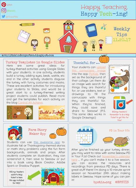 mrspiltzkindergarten.blogspot.com - Traci Piltz - Weekly Tech-y News