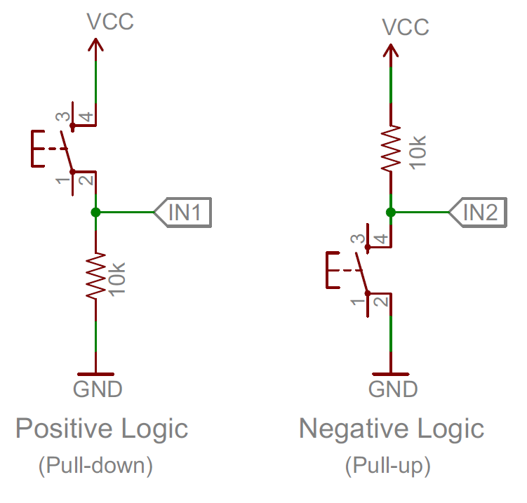 open electronics project interfacing push button switch with Push Pull Set switch interface circuit
